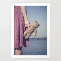 teddy bear Art Prints featuring Teddy by Maria Heyens