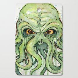 Cthulhu HP Lovecraft Green Monster Tentacles Cutting Board