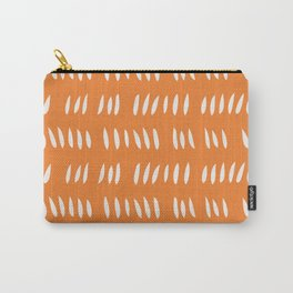 HASH MARK CUTOUTS . TANGERINE Carry-All Pouch