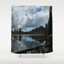 Sprague Lake Cloud Reflection Shower Curtain