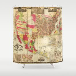 The Washington Map of the United States (1860) Shower Curtain