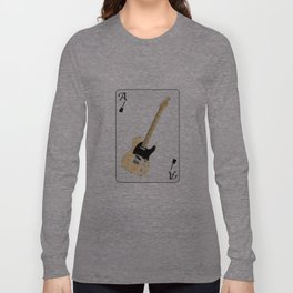 Electric Guitar Playing Card Long Sleeve T-shirt