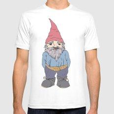 Gnome Sayin?  White MEDIUM Mens Fitted Tee