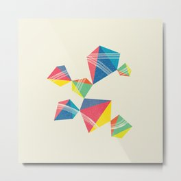 Cubical+Line Metal Print