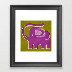 PURPLE PACHYDERM Framed Art Print