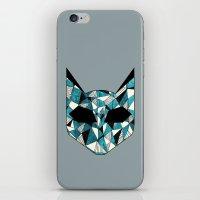 Turquoise Cat iPhone & iPod Skin