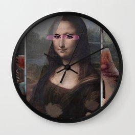Mona Lisa phone Wall Clock