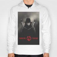 vendetta Hoodies featuring V for Vendetta (e2) by Ezgi Kaya