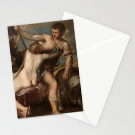 """""""Venus and Adonis"""",Gift original,Gift originals,Art,Framed Wall Art,Paintings,Wall Paintings,Station Stationery Cards"""