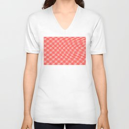 Hearts pattern and stereogram - See the hidden 3D image! Unisex V-Neck