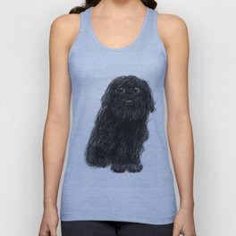 Charlie the Dog - Charcoal/Chalk Drawing Unisex Tank Top