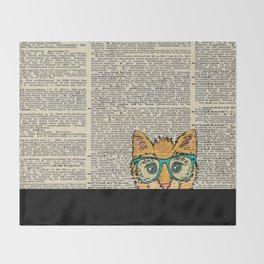 Orange Kitty Cat Throw Blanket
