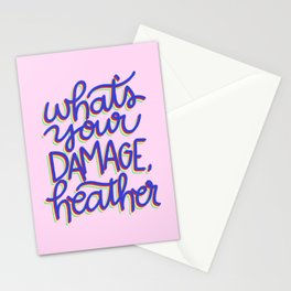 What's Your Damage? Stationery Cards