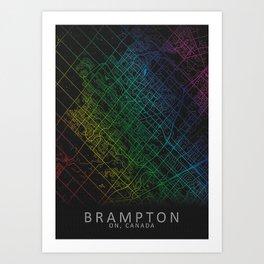 Brampton Canada City Map Art Print