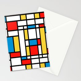 Tribute to Mondrian No2 Stationery Cards