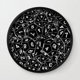Dungeon Master RPG Gamer Dice Wall Clock