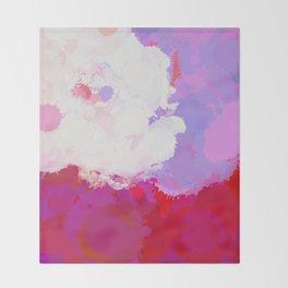 Purple watercolor abstract splatter Throw Blanket