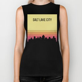 Salt Lake City Skyline Biker Tank