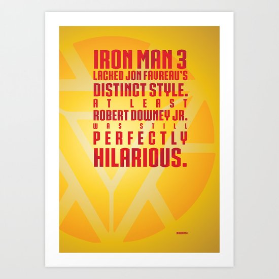 Nerdism 4 - Iron Man Art Print