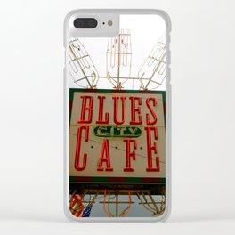 Blues City Cafe, Beale Street, Memphis Clear iPhone Case