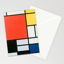 Mondrian's Composition in red, yellow, blue, and black (High Resolution) Stationery Cards