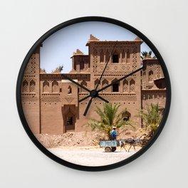 Moroccan kasbah Wall Clock