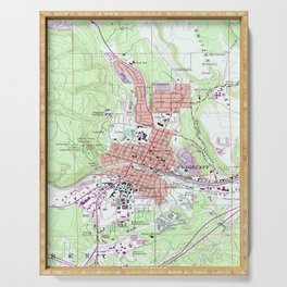Vintage Map of Flagstaff Arizona (1962) Serving Tray