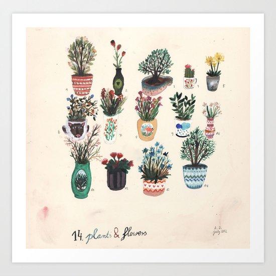 14 Plants & Flowers Art Print