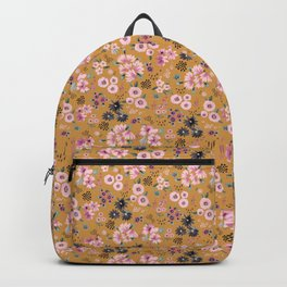Artful little flowers Gold yellow Backpack