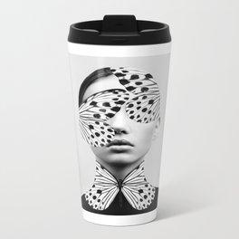 Woman Butterfly Metal Travel Mug