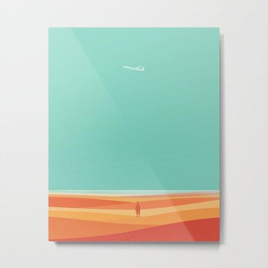 Where the sea meets the sky Metal Print