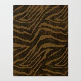 ANIMAL PRINT ZEBRA BROWN CHOCOLATE PATTERN Canvas Print