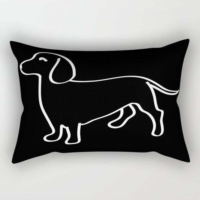 Doxie Love White Rectangular Pillow