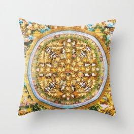 Buddhist Mandala 50 Buddhist Teachings Throw Pillow