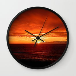 Sun Sets on the Mighty Saint-Lawrence Wall Clock