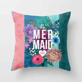 Mermaid Soul <3 Throw Pillow