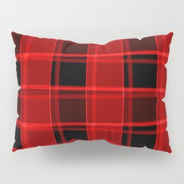 Bright intersections of light and bloody lines on a dark background. Pillow Sham