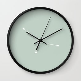 Cancer Zodiac Constellation - Sage Wall Clock