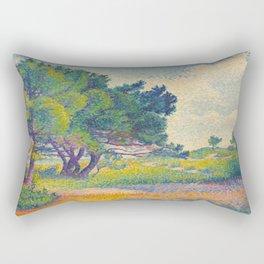 Small House at Saint Clair 1894 Henri-Edmond Cross Neo-Impressionism Pointillism Oil Painting Rectangular Pillow