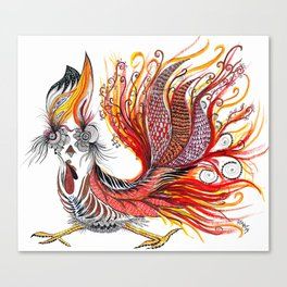 Dreamy Rooster Canvas Print
