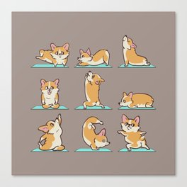 Corgi Yoga Canvas Print