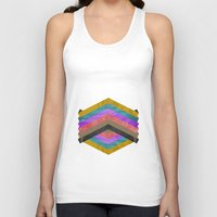 hexagon Tank Tops featuring Hexagon by Kaamil Ajmeri