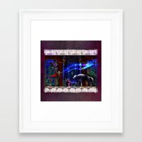 castlevania Framed Art Prints featuring Castlevania Verboten by likelikes