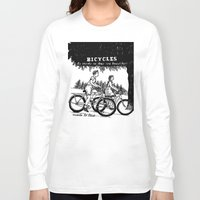 bicycles Long Sleeve T-shirts featuring Bicycles by Addison Karl