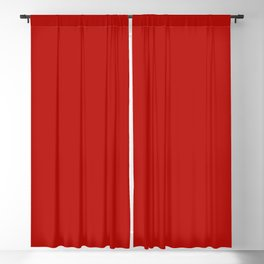 Crimson Red, Solid Red Blackout Curtain
