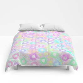 Pretty Pastel Pentagons Comforters