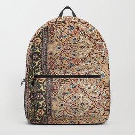 Hereke Of Turkey Old Century Authentic Colorful Moss Green Red Tan Vintage Rug Pattern Backpack