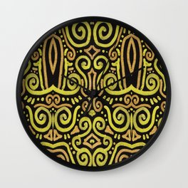 Golden Manipura 2 Wall Clock