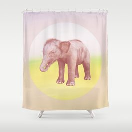 Save the Elephant - Endangered Species 1 Shower Curtain