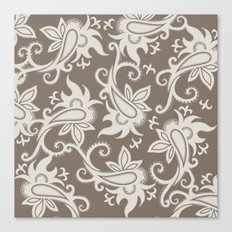 Paisley: Taupe  Canvas Print